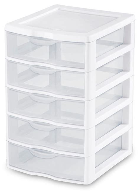 sterilite 2075 small 5 drawer unit