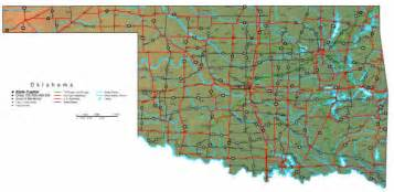 State Map Of Oklahoma by Oklahoma Map Online Maps Of Oklahoma State