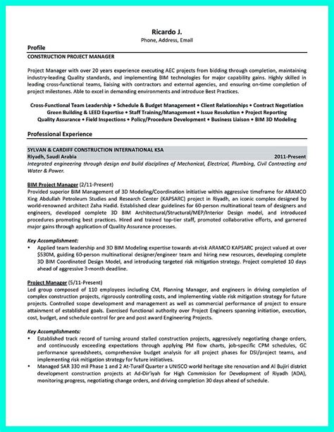 engineering project manager resume exles