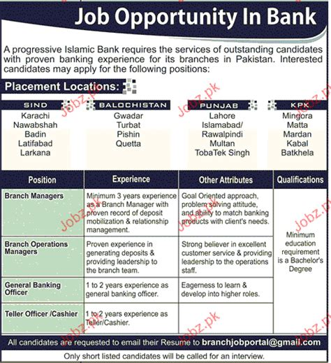 branch managers branch operation manager opportunity 2017 pakistan jobz pk