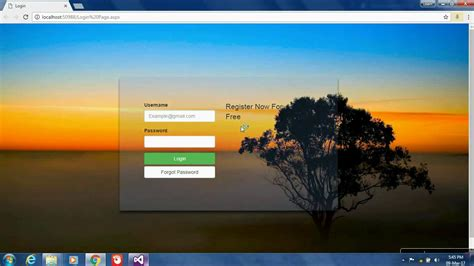 login page design templates in asp net asp net login page design using bootstrap transparent page