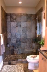 bathroom small ideas with walk shower sunroom entry stone tile getty robert