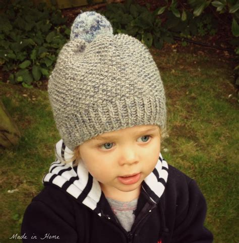 toddler knit hat made in home toddler pompom beanie hat a free pattern