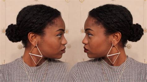 HOW TO: Low Textured Bun on 4C Natural Hair (Protective