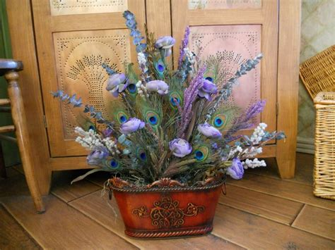 silk peacock home decor 1000 images about artificial flower arrangements on