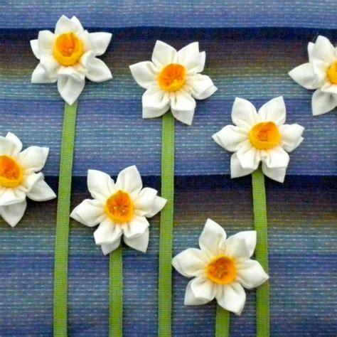 Daffodil Paper Flower Pattern | fabric flower tutorial pattern double daffodil brooch