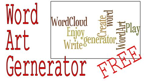 word art design your own word generator create your own word cloud for free youtube
