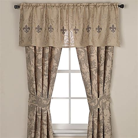 Fleur De Lis Kitchen Curtains Buy Fleur De Lis Window Valance From Bed Bath Beyond