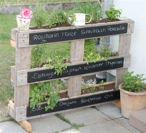 Standing Herb Planter by Pallet Herb Garden Is The Solution For Limited Space