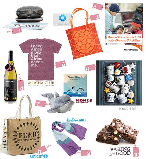 top 10 picks charitable holiday gifts