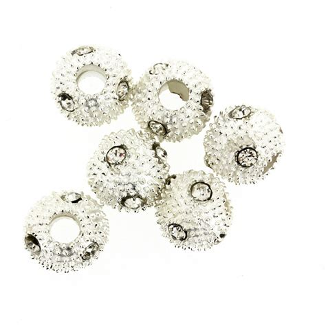 rhinestone beading silver sparkly rhinestone bead