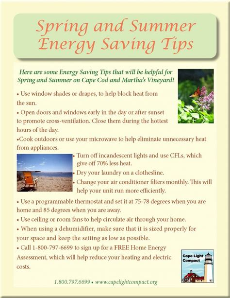 summer energy saving tips and summer energy saving tips cape light compact