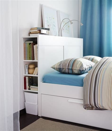Headboard Storage by Brimnes Headboard With Storage Compartment White
