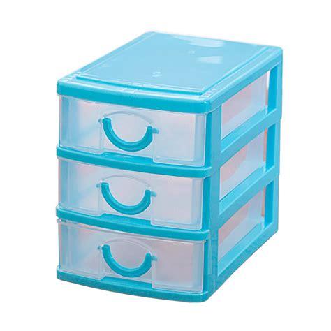 Small Plastic Drawer Storage by Mini Translucent Drawer Type Plastic Storage Box Blue 3