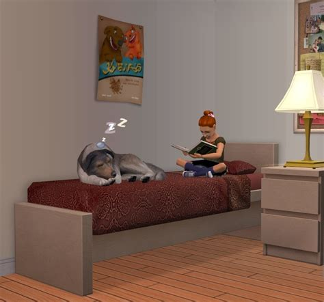 mod 4 sims bed mod the sims pets and children share bed