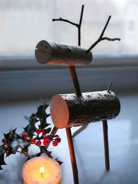 wooden christmas reindeer christmas decoration natural