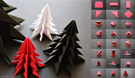 Origami Tree Decorations - sapins de no 235 l once upon a