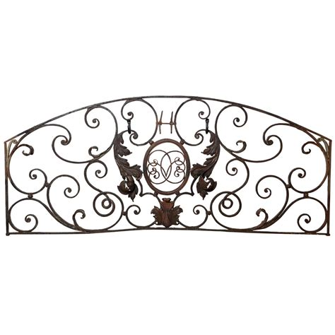 Wall Decor Susun 19 19 c wrought iron wall hanging at 1stdibs