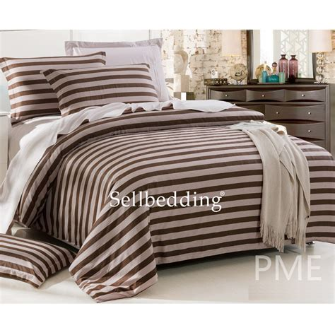 simple brown striped luxury cheap unique elegant comforter