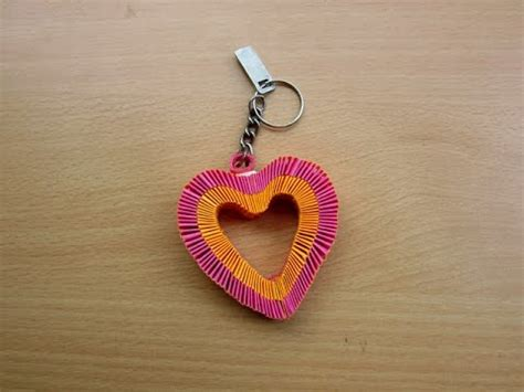 How To Make A Keychain With Paper - how to make a paper keychain easy tutorials