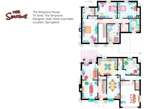 simpsons house floor plan the simpsons house floor plan hand drawn floor plans of popular tv show apartments