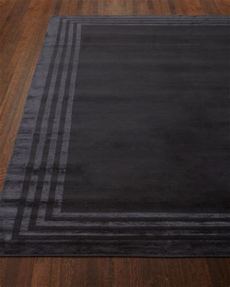 black rug with white border ralph home acadia jute rug