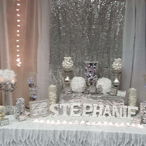 all white decorations all white birthday ideas photo 3 of 9
