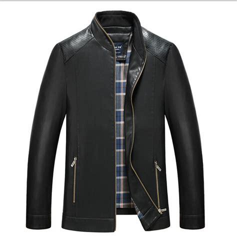 primavera e outono jaqueta de couro homens jaqueta de