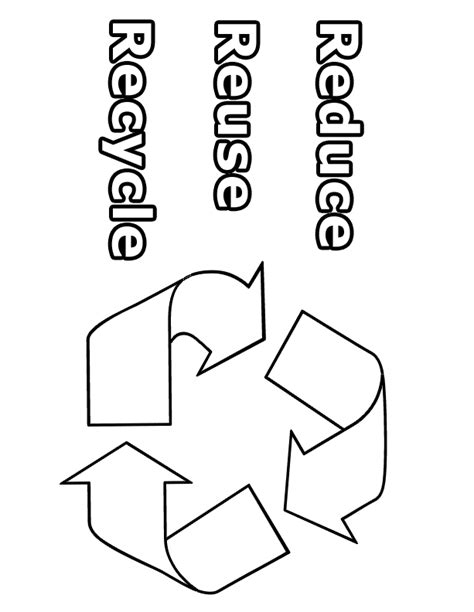 coloring pages for recycling recycle color pages coloring home