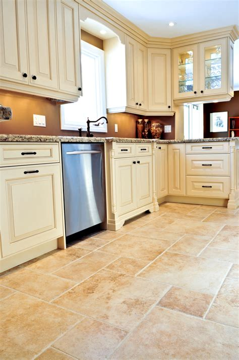 tiled kitchen floors popular kitchen flooring options through the years
