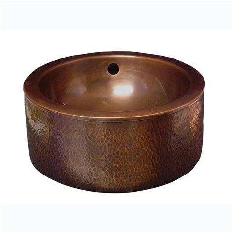 hammered copper vessel barclay products vessel sink in hammered antique copper