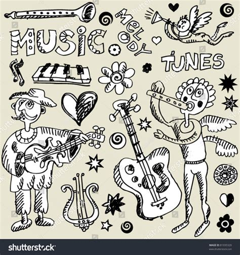 musical doodle free vector musical doodle mix stock vector illustration 81935320