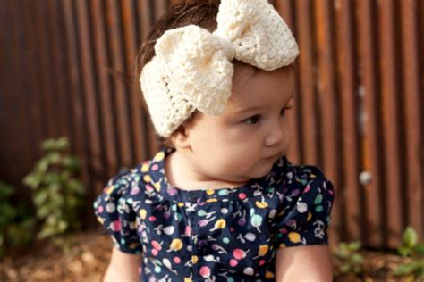 crochet baby headband with lace bow and by allbabygirls crochet big bow ear warmer for babies baby headband baby ear