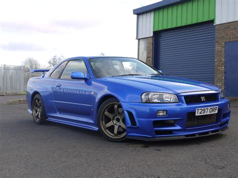 blue nissan skyline bayside blue r34 gtr stunning condition 390bhp gt r