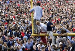 ole miss student section katy perry filmed downing beers and crowd surfing in ole