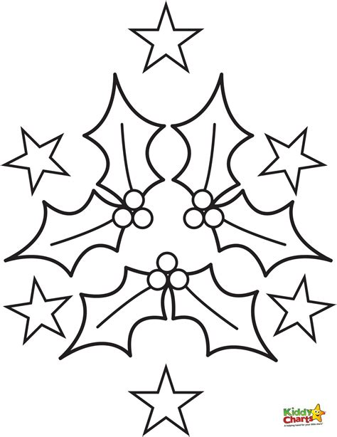 christmas coloring pages holly leaves holly coloring pages