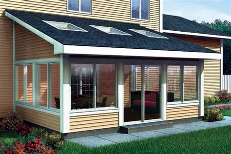 shed roof sun room addition   story homes plan