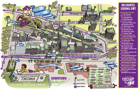 Uw Tacoma Mba Admission Requirements by Cus Transportation Map Uw Tacoma