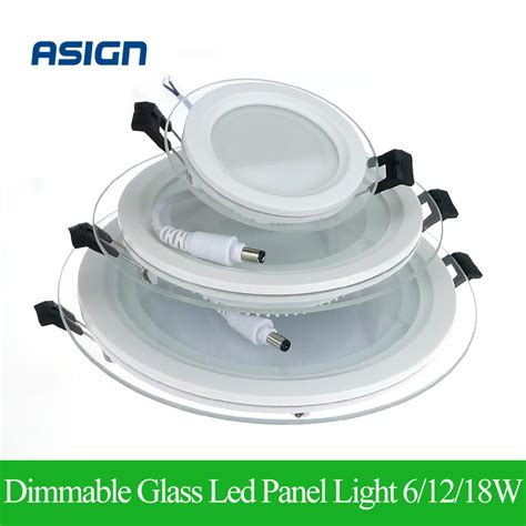 Aliexpress Com Buy Dimmable Led Panel Light Round Glass Where Can I Buy Led Lights