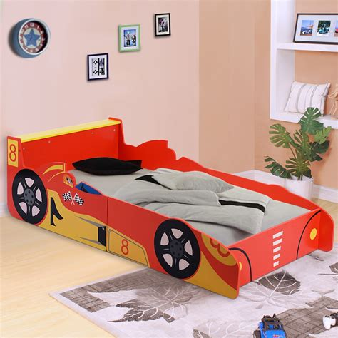toddler car beds for boys kids racing car bed speed toddler children boys junior wooden bedroom bedframe