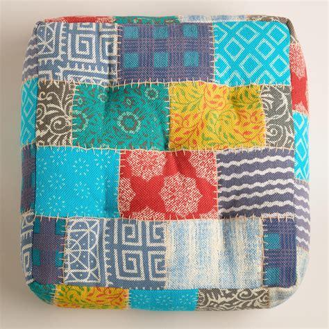 patchwork floor cushion world market