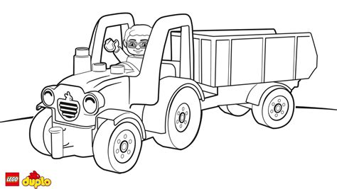 Lego Tractor Trailer Coloring Coloring Pages Tractor Trailer Coloring Pictures