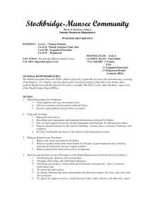 resume template for dental assistant sle dental assistant resume sle resumes