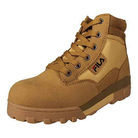 fila boots for fila s boots grunge mid leather boat shoes chipmunk