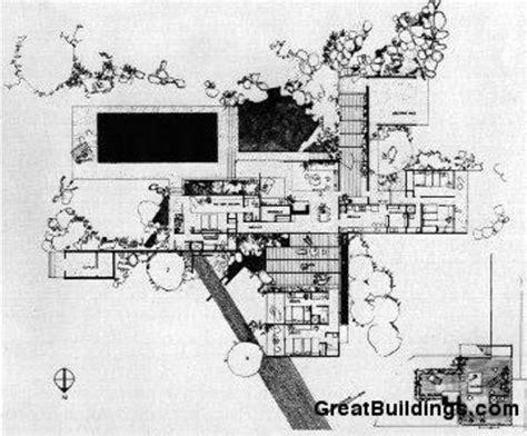 kaufmann desert house floor plan ad classics kaufmann house richard neutra archdaily