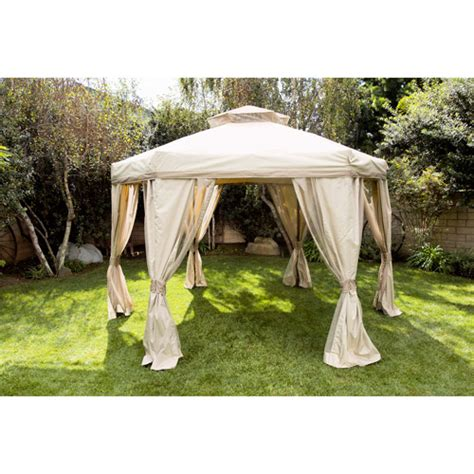 Walmart Patio Gazebo Portable Hexagon Patio Gazebo With Roof Beige 12 Diagonal Patio Outdoor Decor