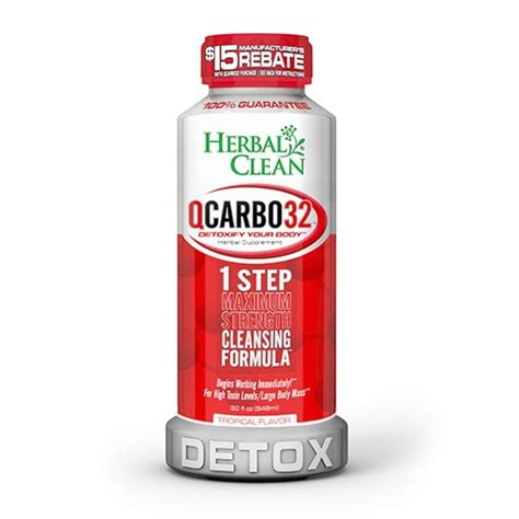 Best Detox Drink To Clean Your System by Herbal Clean Qcarbo32 Tropical Flavor Best 4 Test