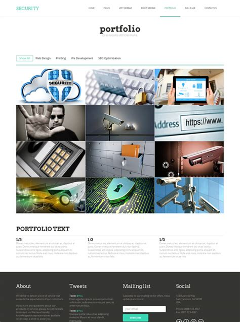 Computer Security Project Template Computer Security Html Template Security