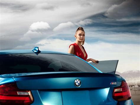 bmw ads 2016 gigi hadid bmw m2 advertising 2016 04 gotceleb