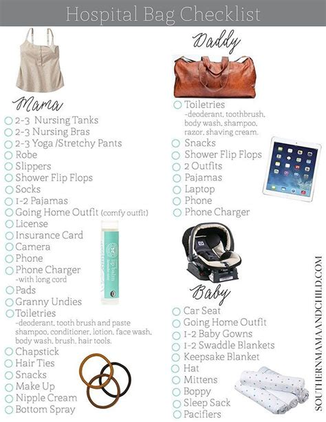 what to pack in hospital bag for baby c section best 25 hospital bag checklist ideas on pinterest